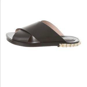 Stuart Weitzman Sandals Slides Studded Black 6.5